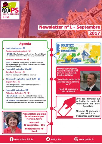 Newsletter - Septembre 2017 - 1 date